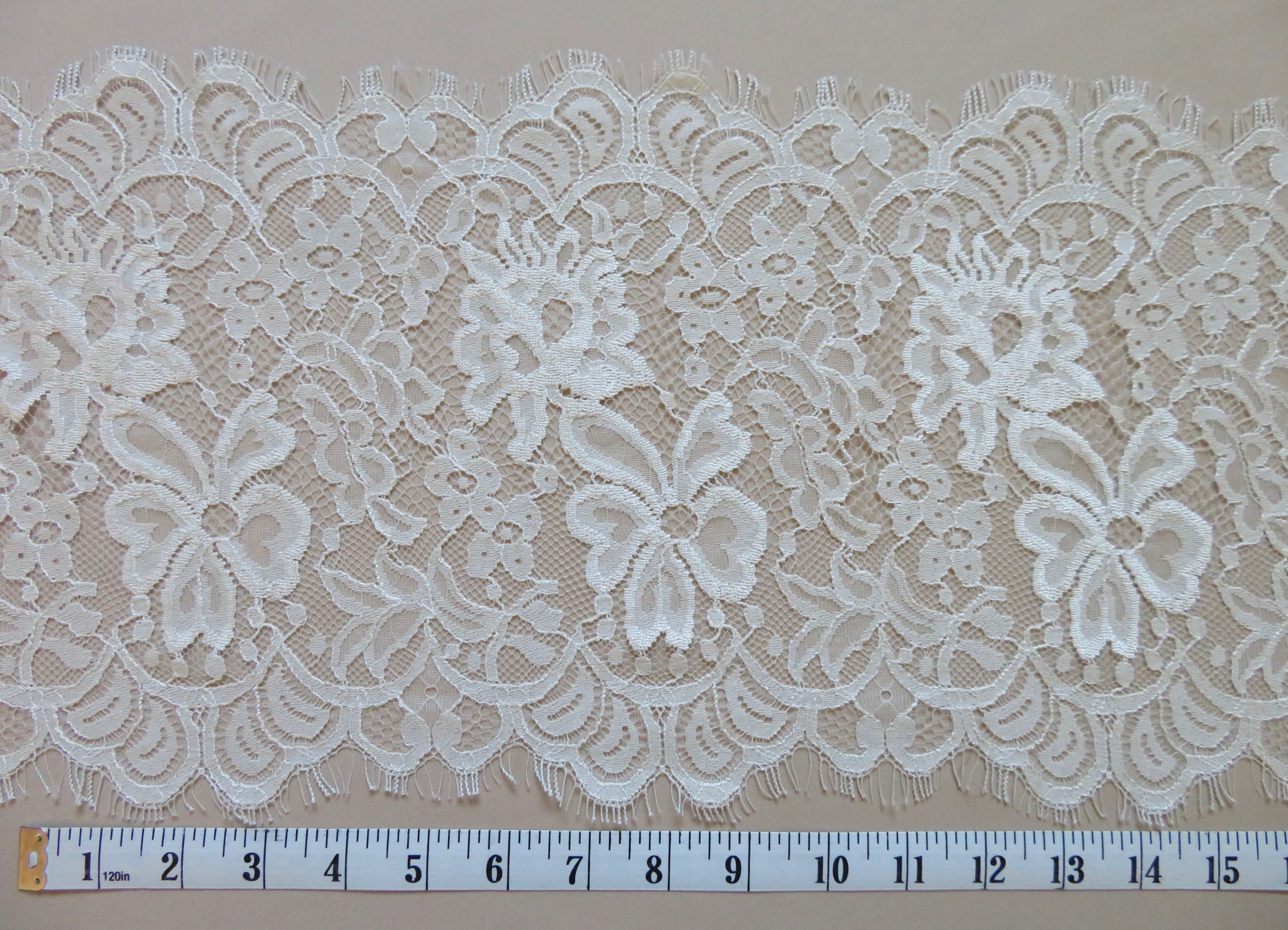 Sequins Embroidered Corded Edging  Motifs Trim 12.50 cm Height
